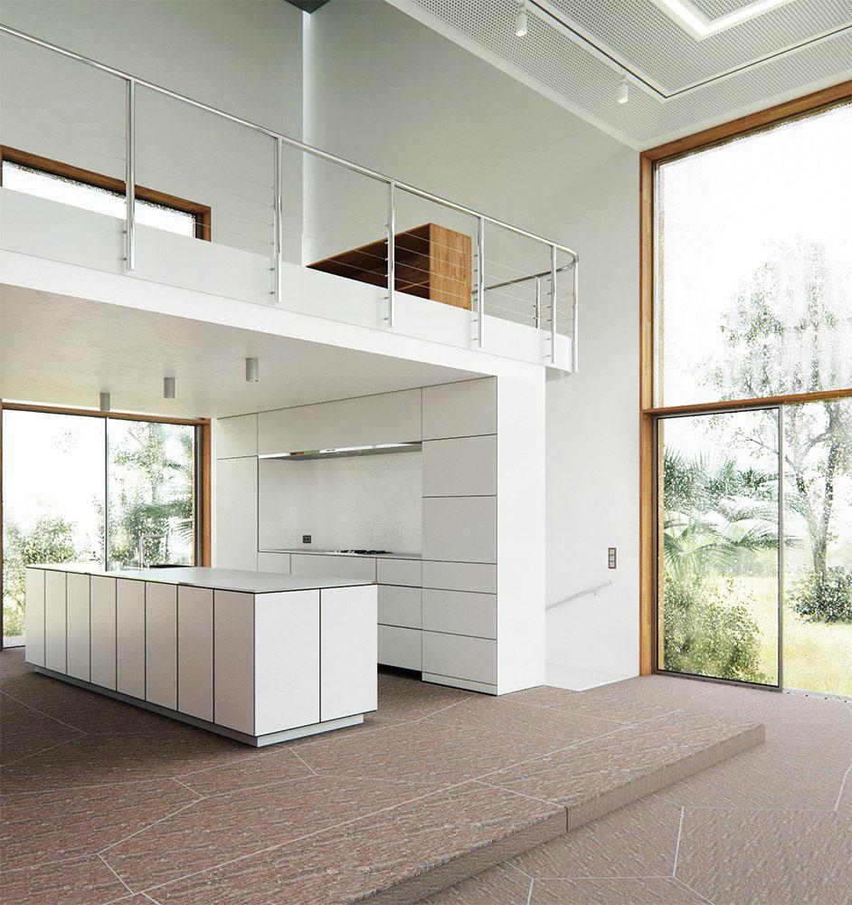 minimalistic White Interior corona 3dmax