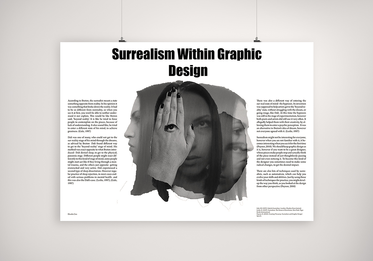 surrealism in graphic design essay poster on  this is the poster which introduces my essay about surrealism and graphic design in this essay i have analysed two things where the ideas came from in