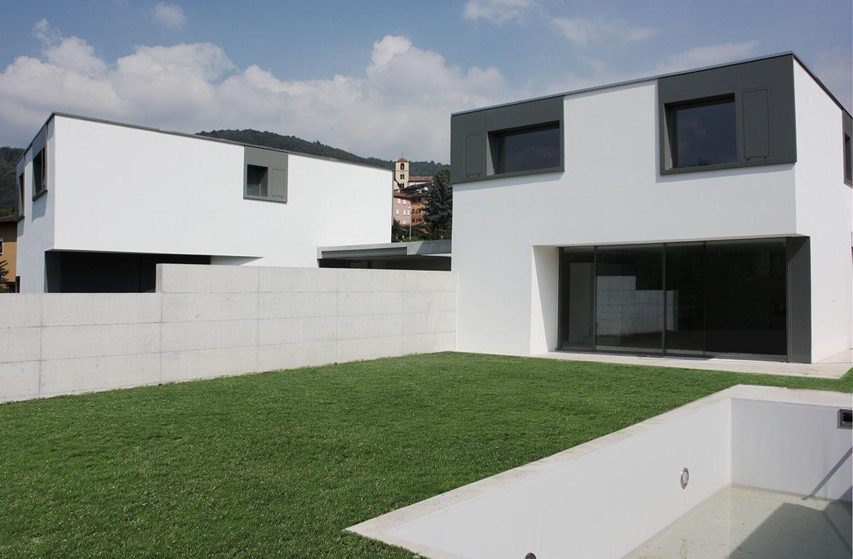 2013 due case moderne minergie lugano villa luganese on for Architettura ville moderne