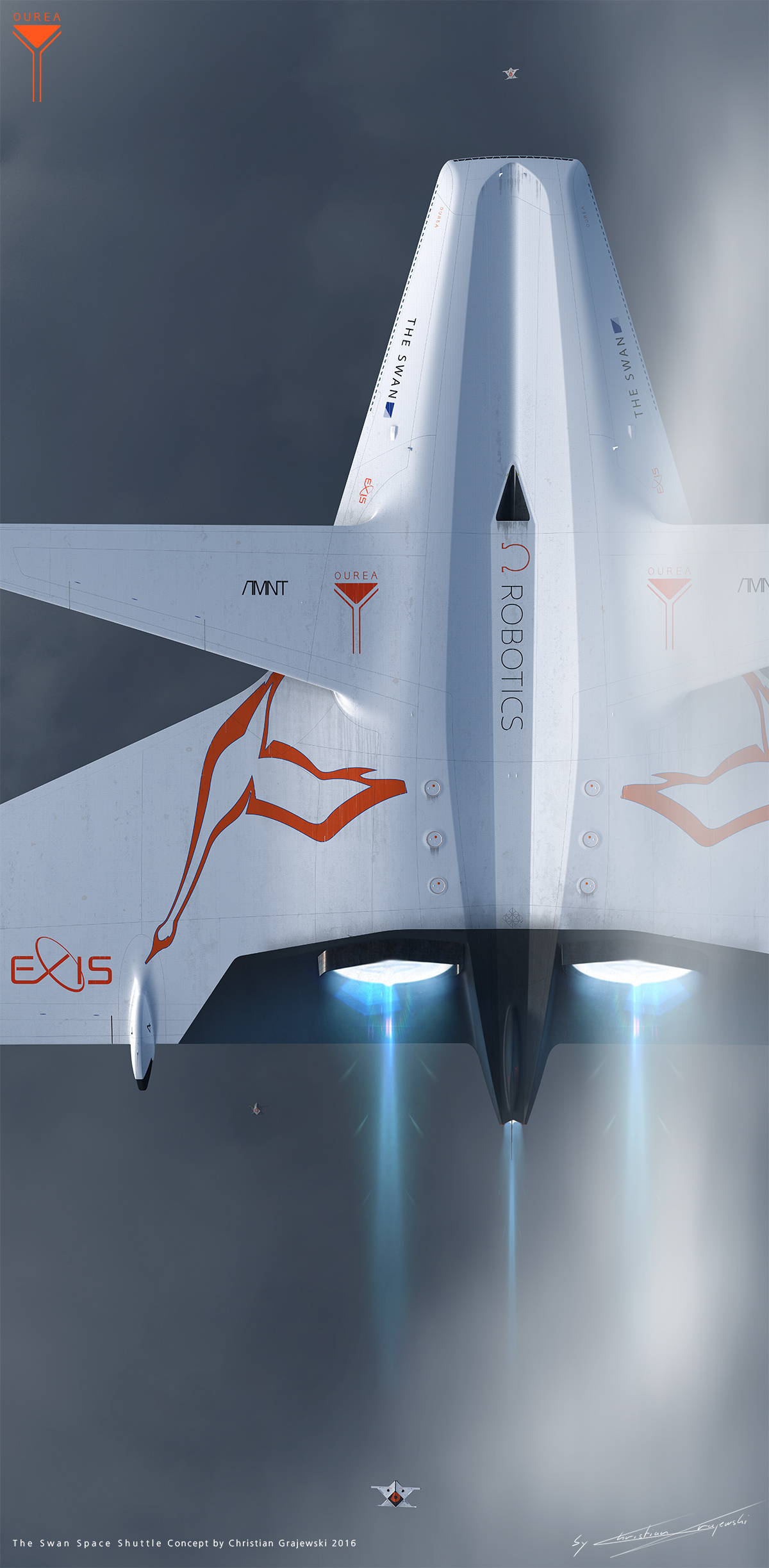 The Swan Space Shuttle concept on Behance