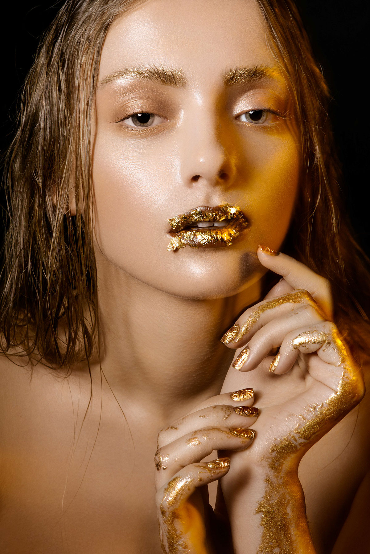 Touch Of Gold The Beauty Editorial By Taisia Afanasieva 2