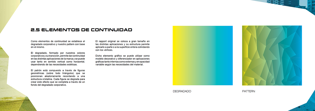 corporate communication campaign Gim graphic geometric gradient Photography