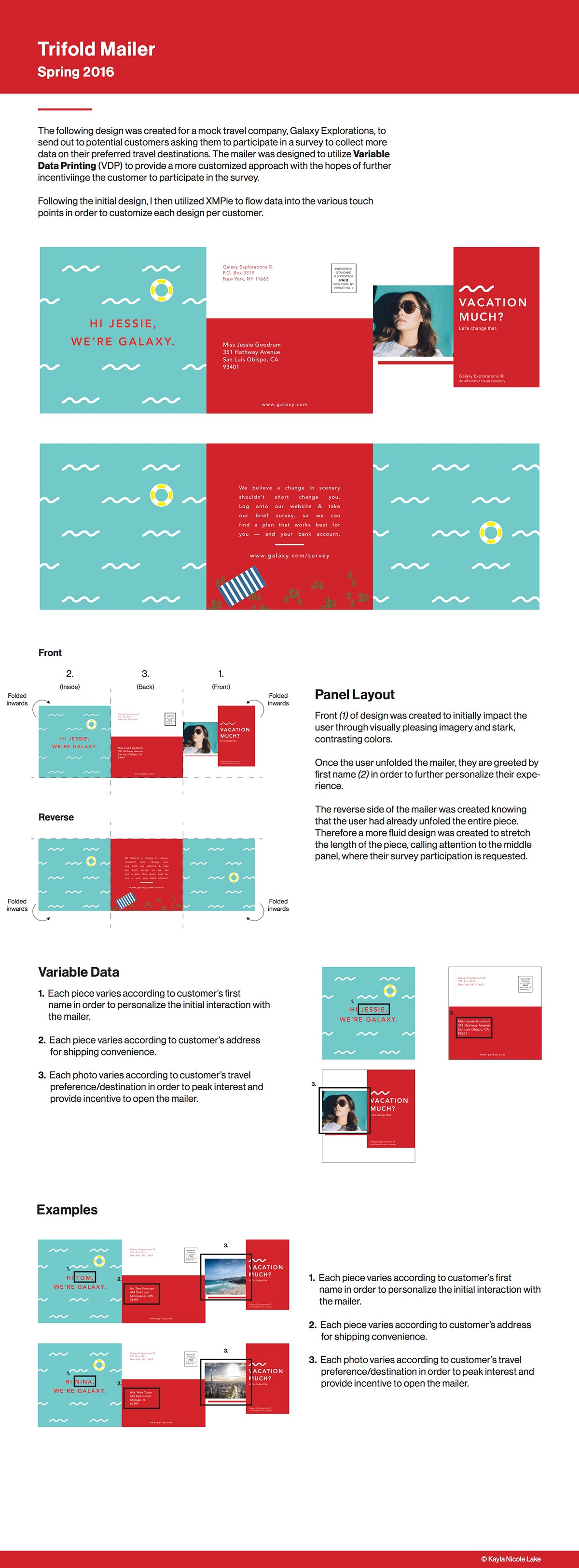 vdp trifold mailer on behance