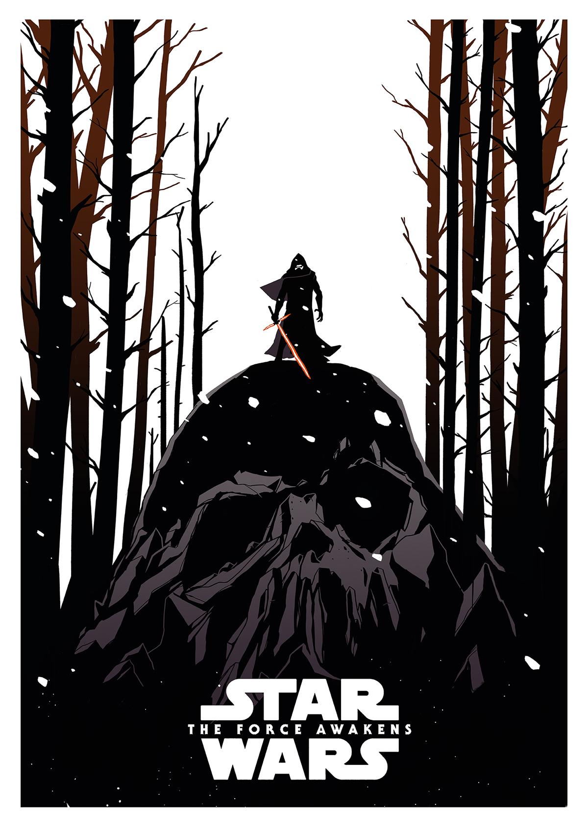 kylo ren star wars disney poster affiche alternative poster fanart