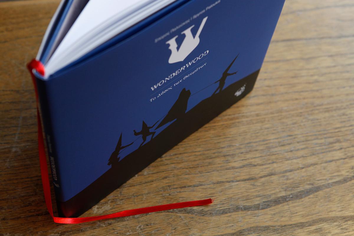 book wonderwood wonder wood fairytale story history logo typo Layout cover font poster exhbition romantica