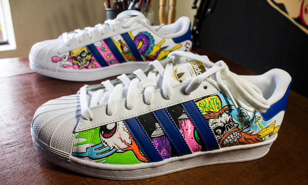 Spiksplinternieuw Adidas Superstar Custom Art on Behance HY-64