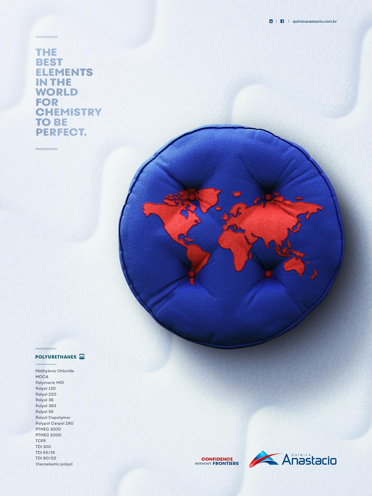 Advertising  Propaganda print ad 3D Food  chemistry industry Brazil world