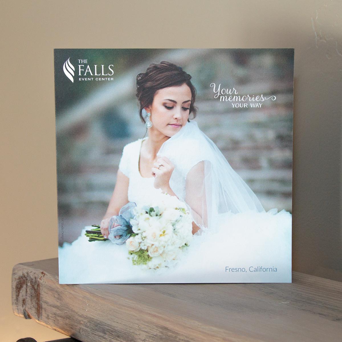 The Falls Event Center wedding brochures on Behance