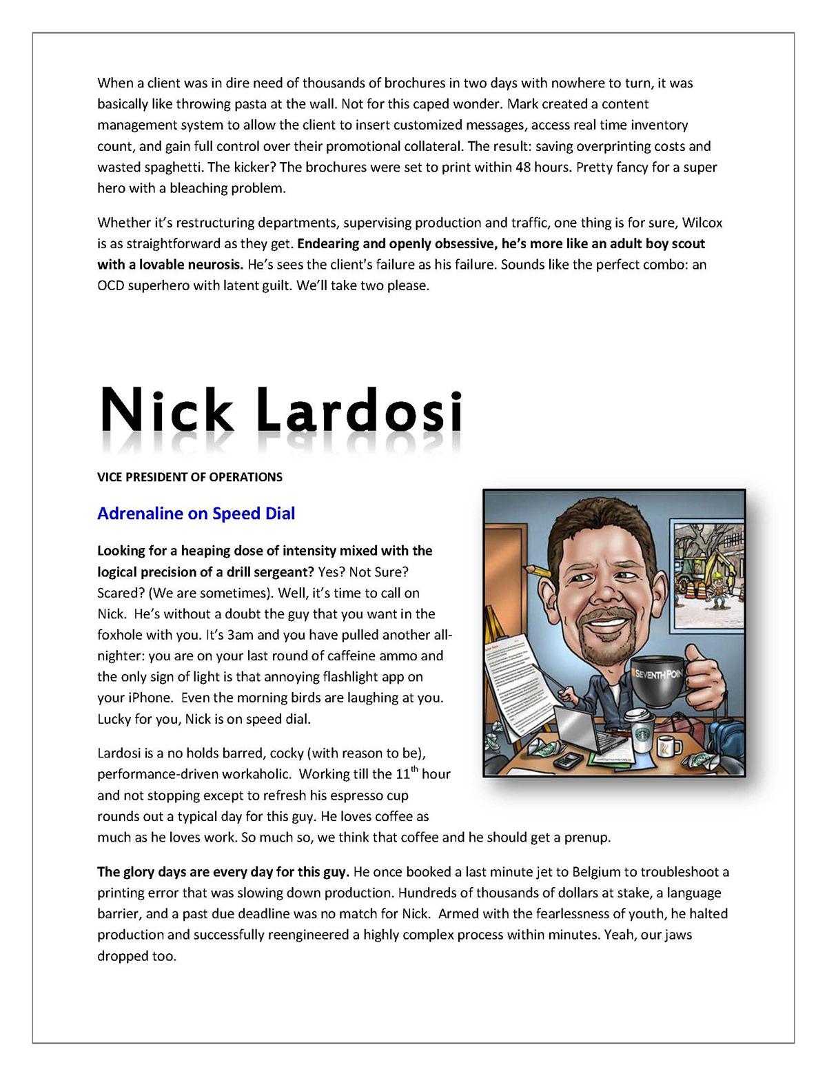 comedic Humorous writing comedian biographies humor comedic writing humorous copy corporate biography Executive Profile Branding Strategy funny biography
