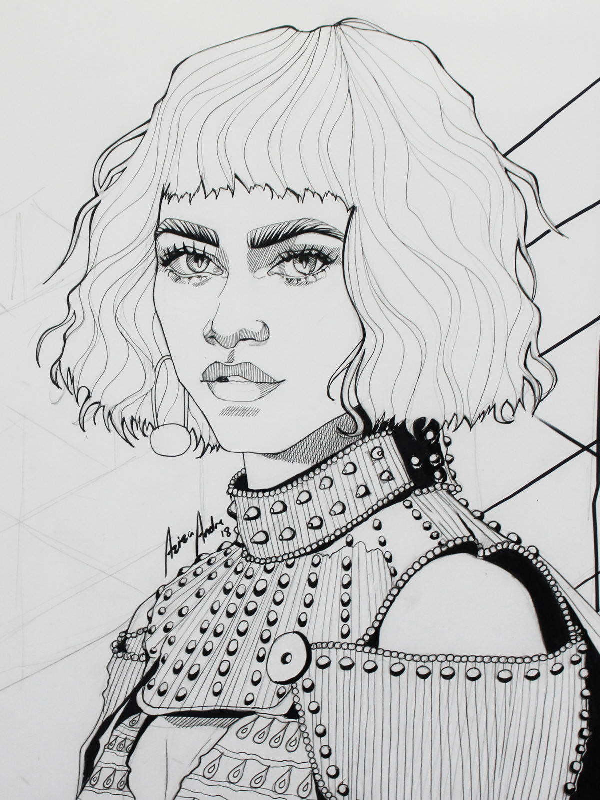 The Greatest Showman Coloring Pages Zendaya Art - Free ... |Zendaya Coloring Pages