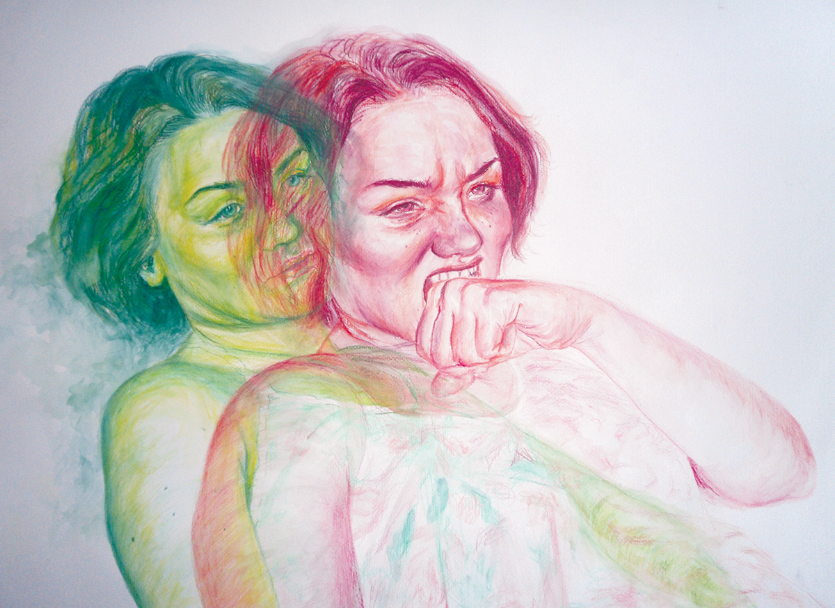 drawings with watercolor pencils on behance