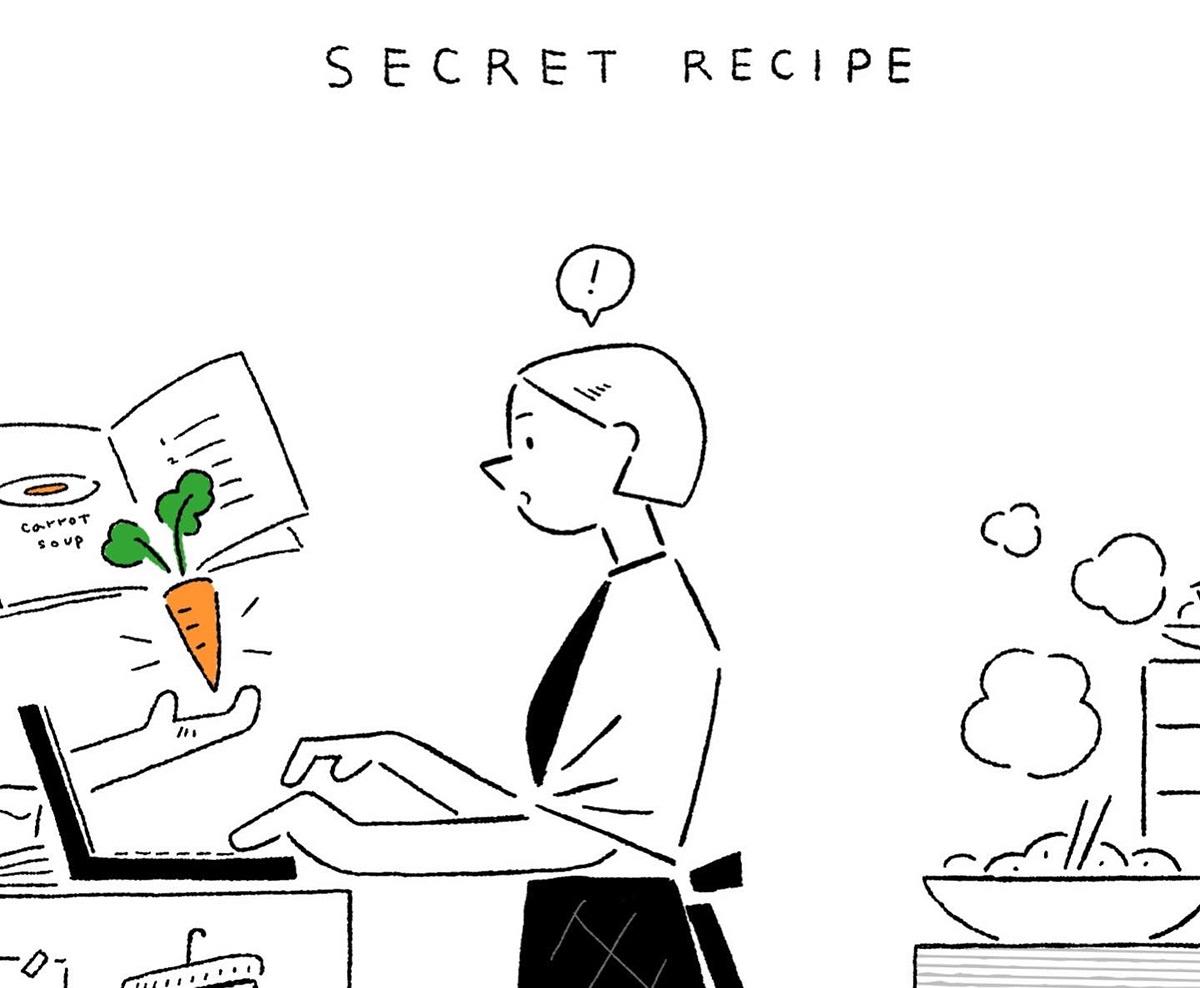 recipe Drawing  ILLUSTRATION