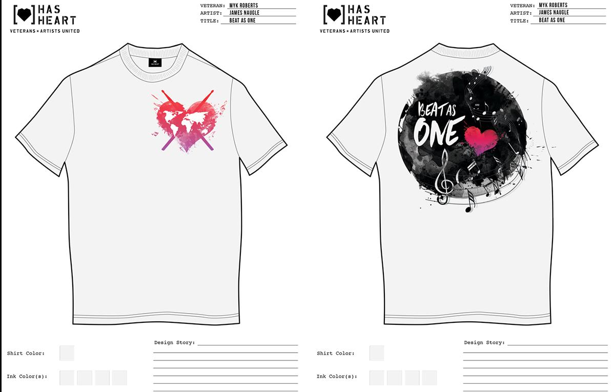 veteran t-shirt Screenprinting Love music