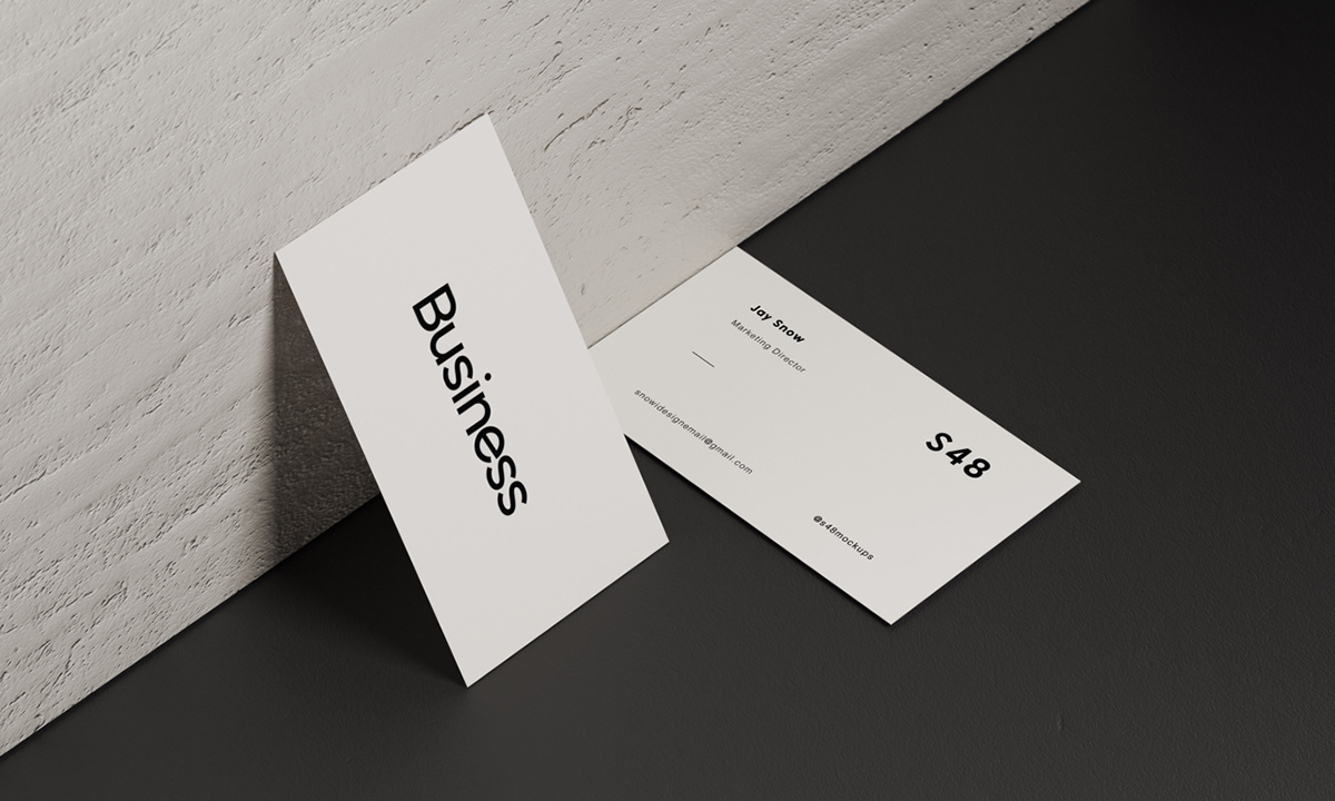 White Business Card Mockup Pack With Download On Behance
