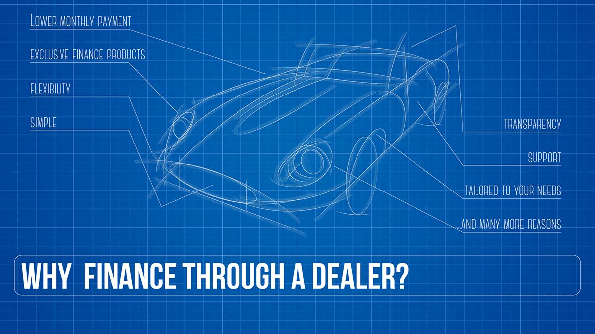 Blueprint car finance video thumbnail design on behance malvernweather Gallery