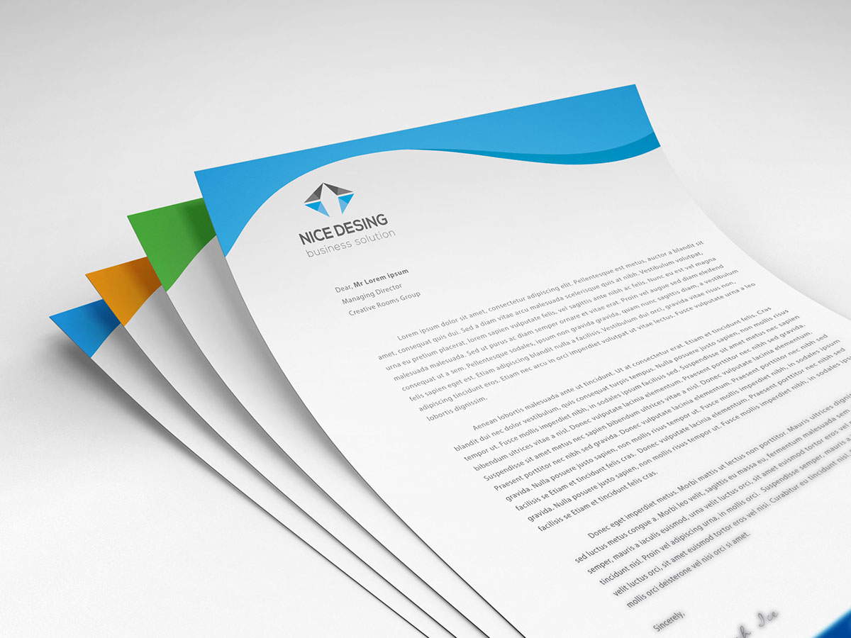 corporate letterhead design free download on behance