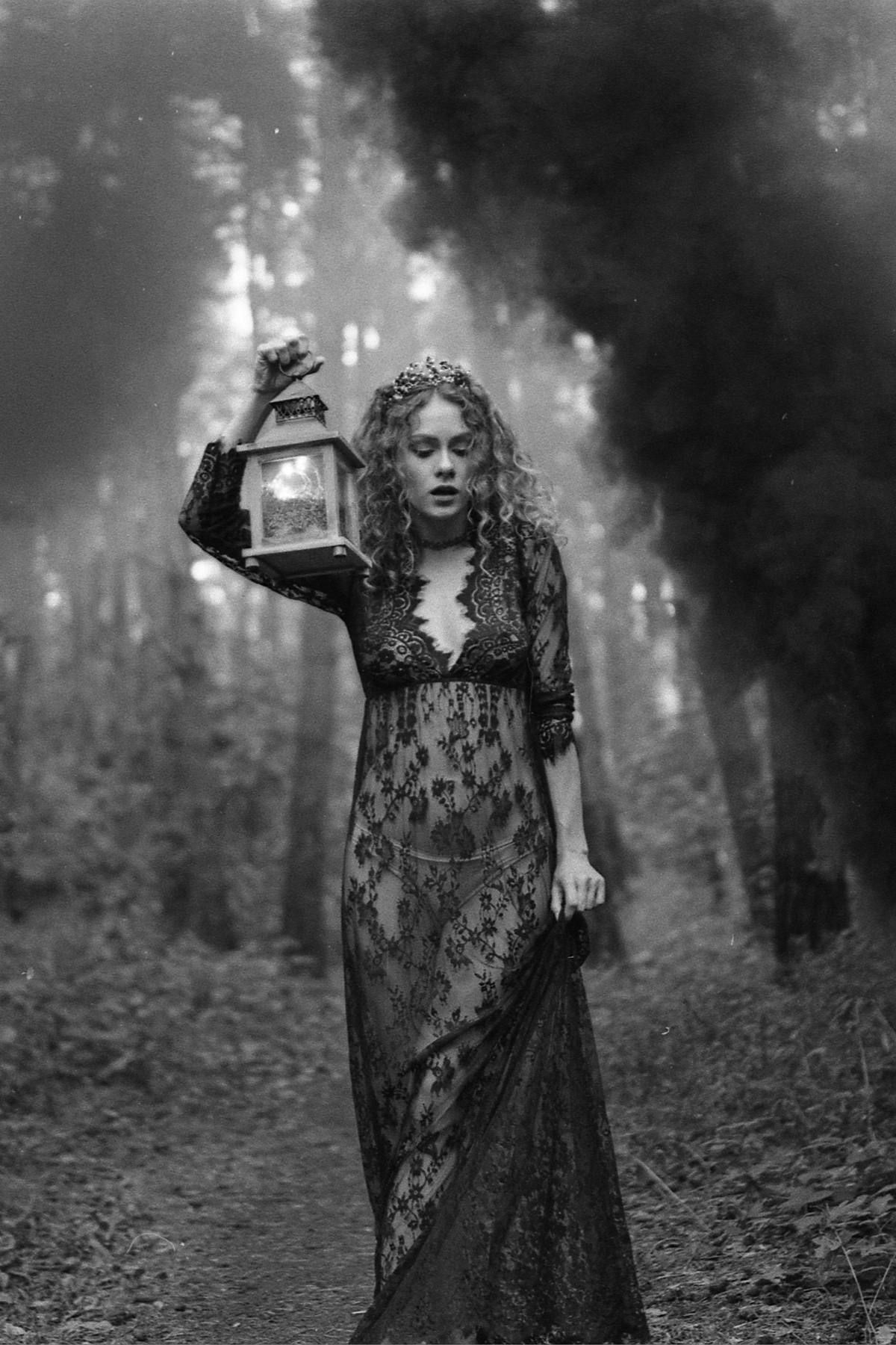 dark Princess model photoshoot backlight mood