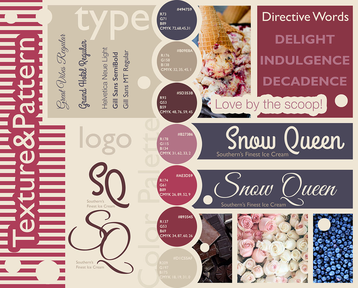 graphic design  mood board