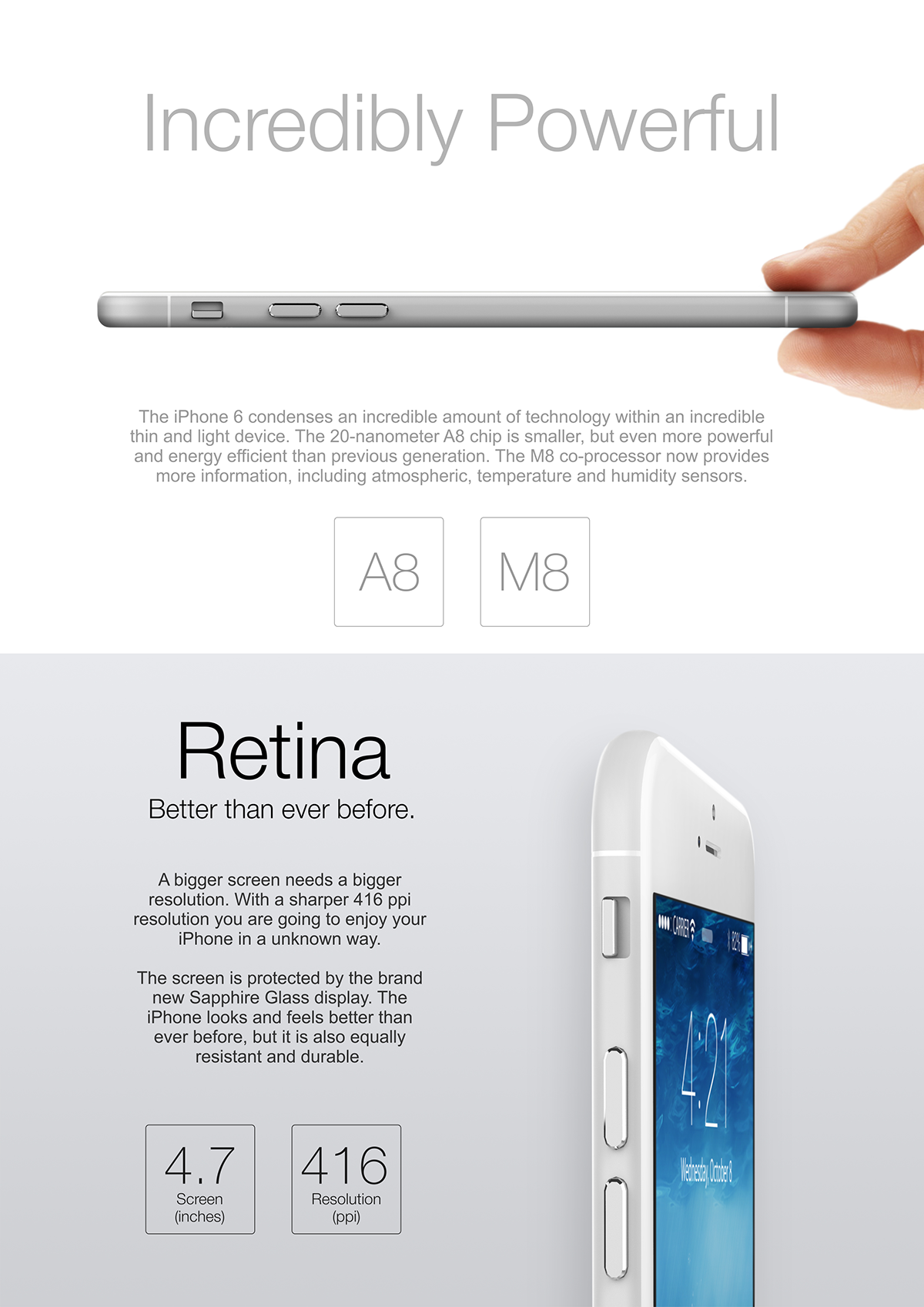 iphone apple concept Mockup iPhone6 Leak