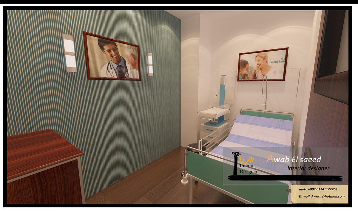 Clinic center madenty rehab city on behance for Dermatology clinic interior design