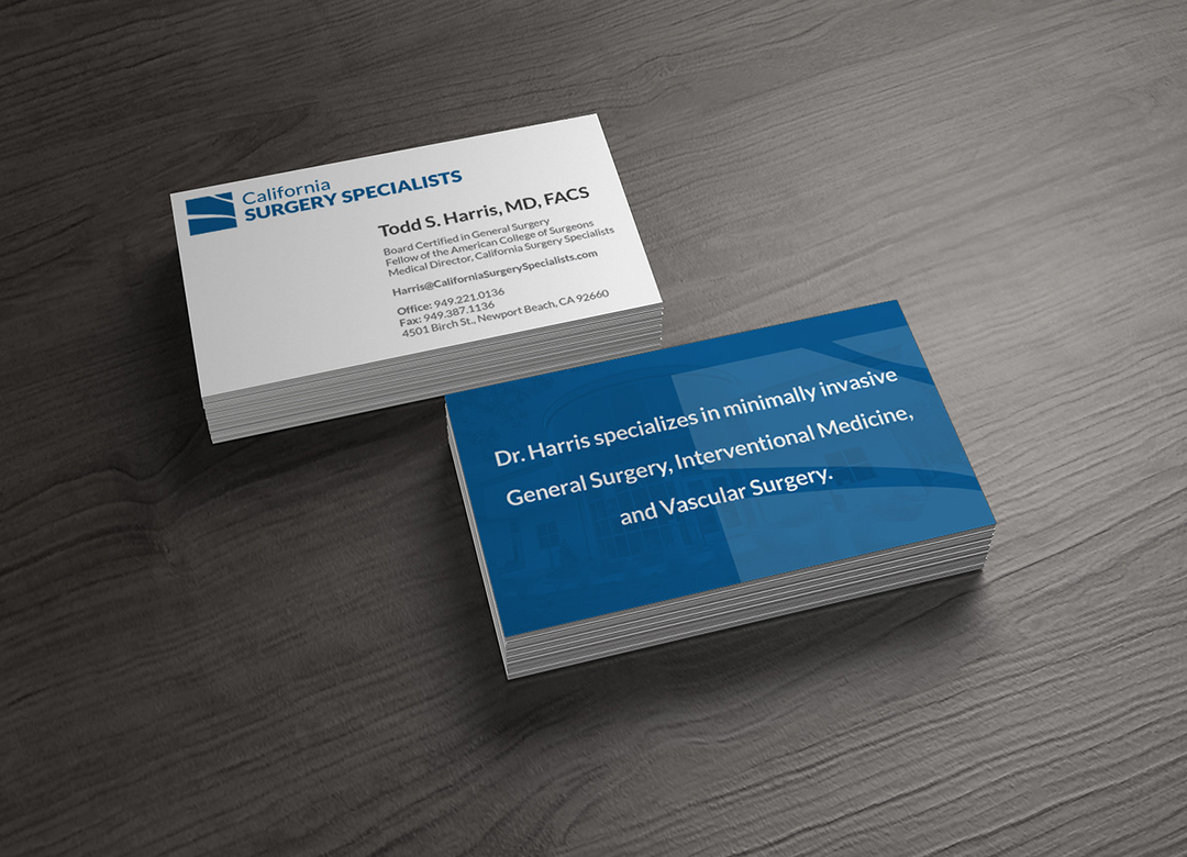 Business Cards For California Surgery Specialists On Behance