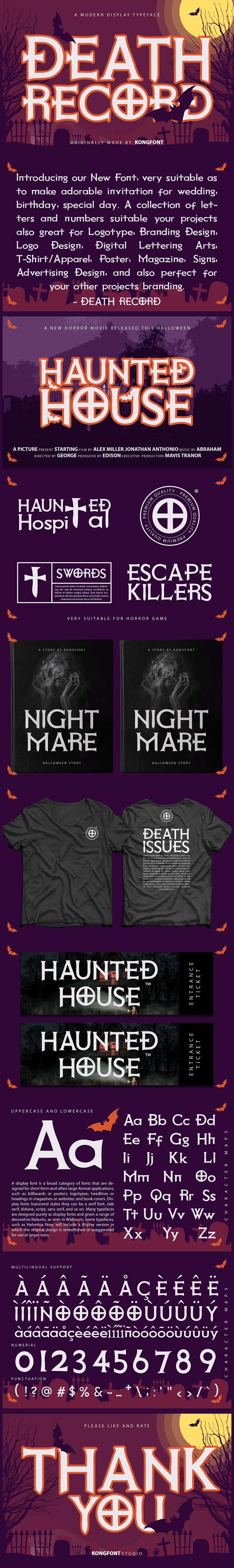 branding  creepy death record decorative Display font italic Logotype oblique spooky