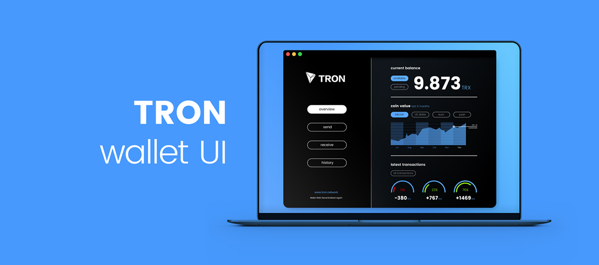 Concept wallet for TRON on Student Show