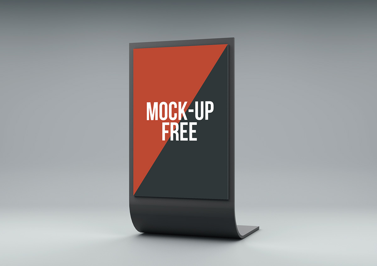 Free Pop Up Exhibition Stand Mockup : Stand display mock up free on behance