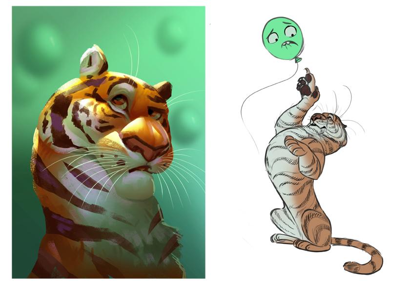 tiger balloon jungle noukah andrea femerstrand funny