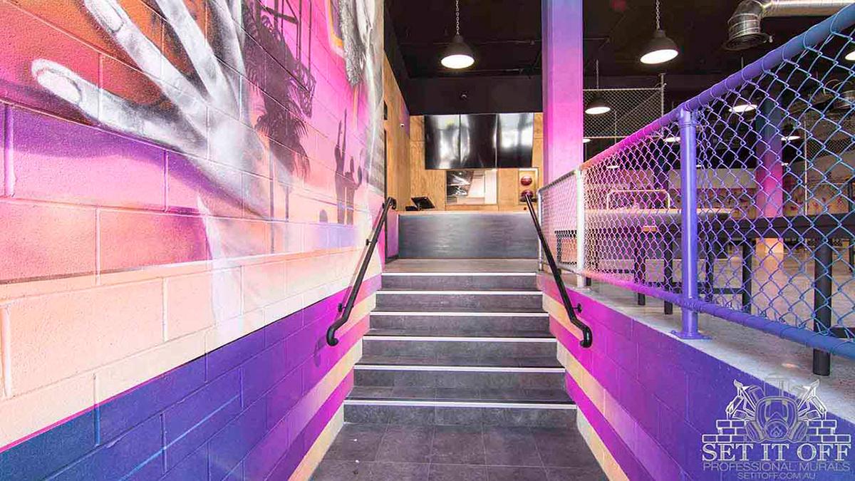 commercial interior design fit out Interior interior design  Murals restaurant Street Art
