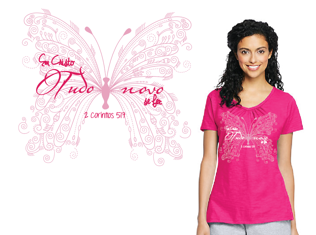 camisetas tshirt feminina Estampas silk screen sublimação evangélica VERSÍCULOS