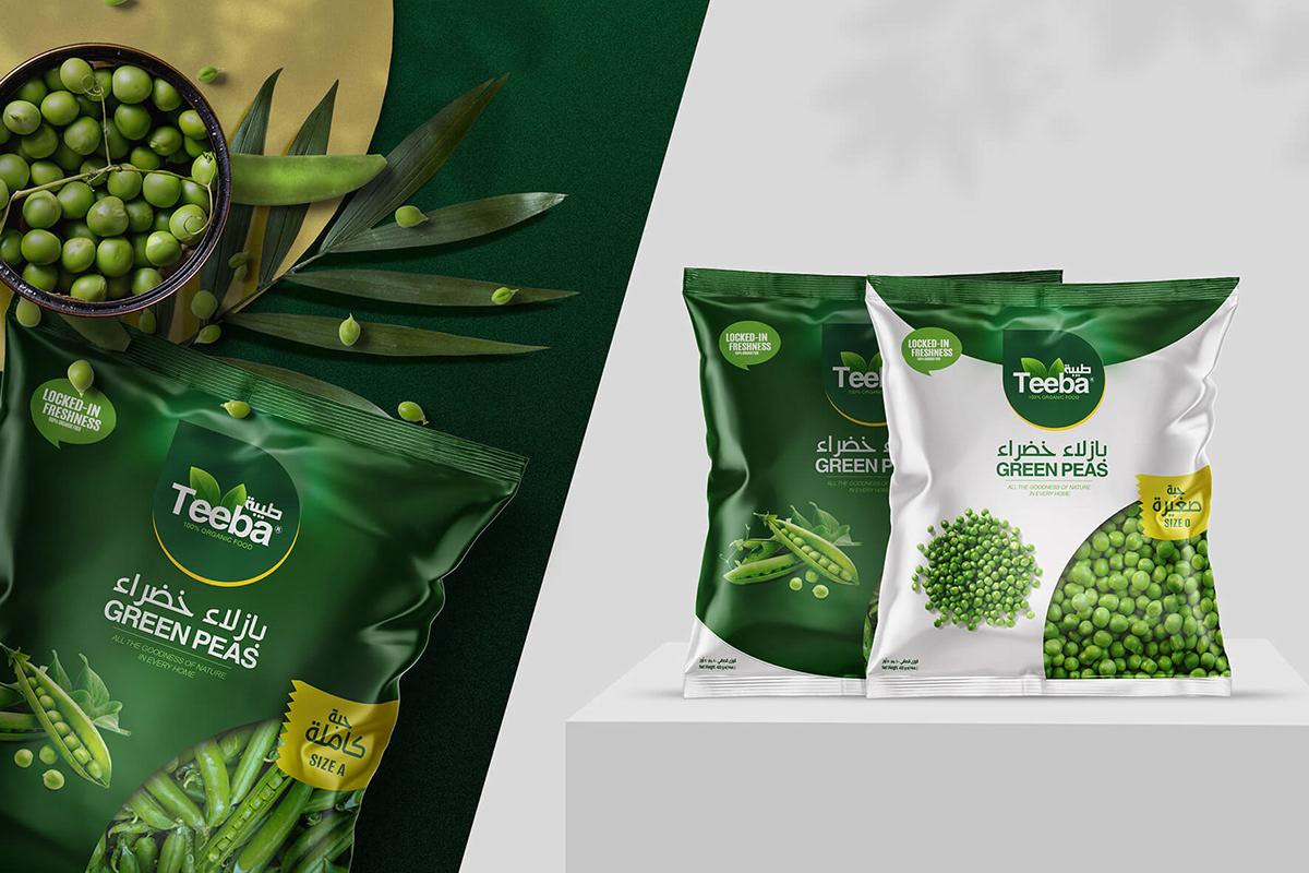 egypt Food  food bag Food Packaging food tin frozen food logo middle east Mockup vegetables