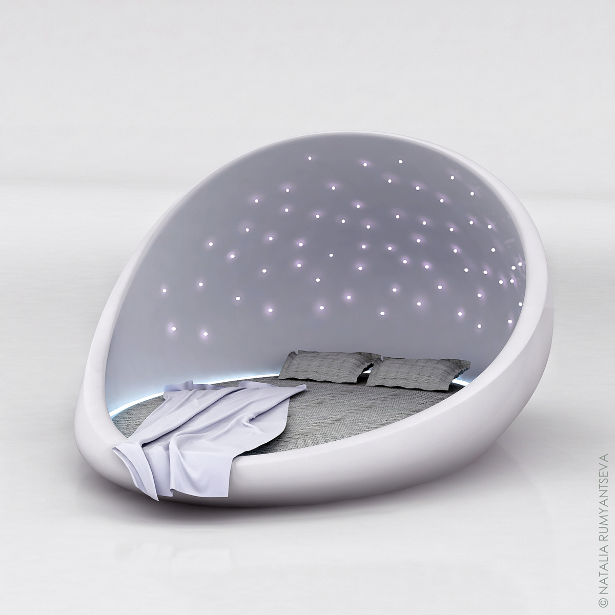 The Cosmos Bed The Space Bed On Behance