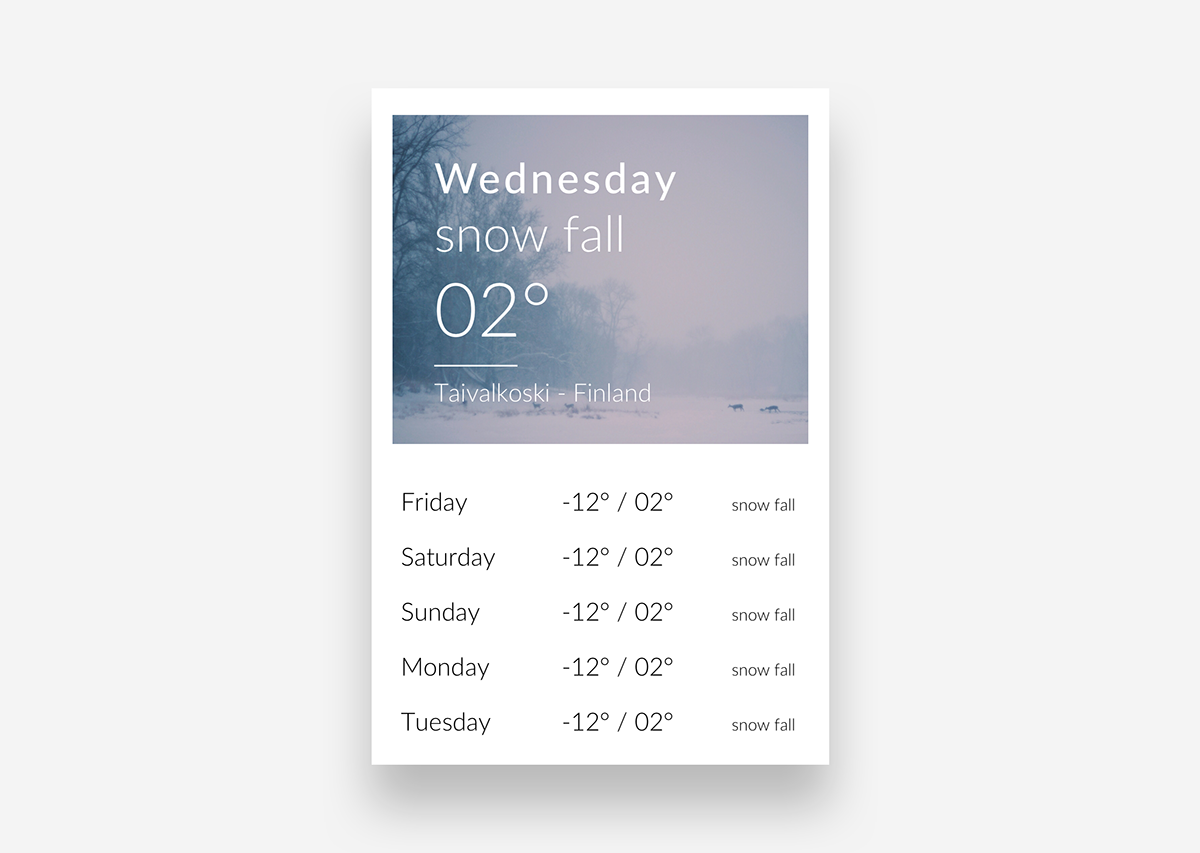 app weather UI ux minimalist design Webdesign daily ui Interface