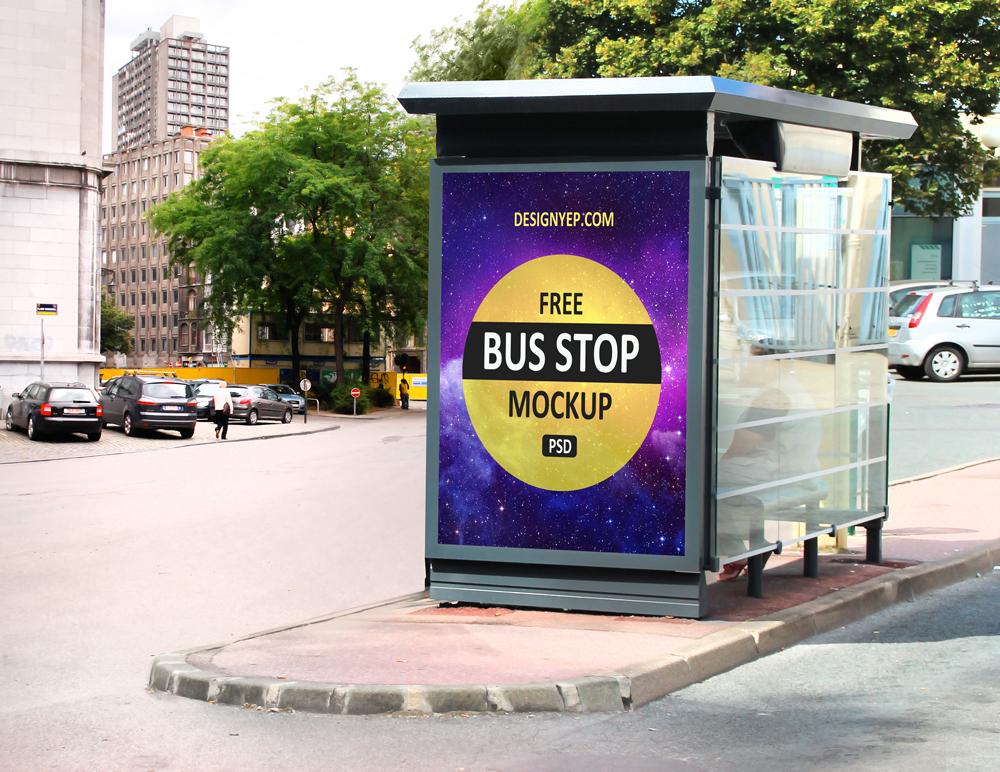free bus stop mockup psd on behance