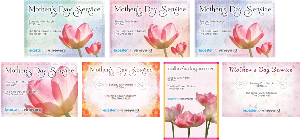 Mother\'s Day Service Flyer/Postcard (LCV Church): on Behance