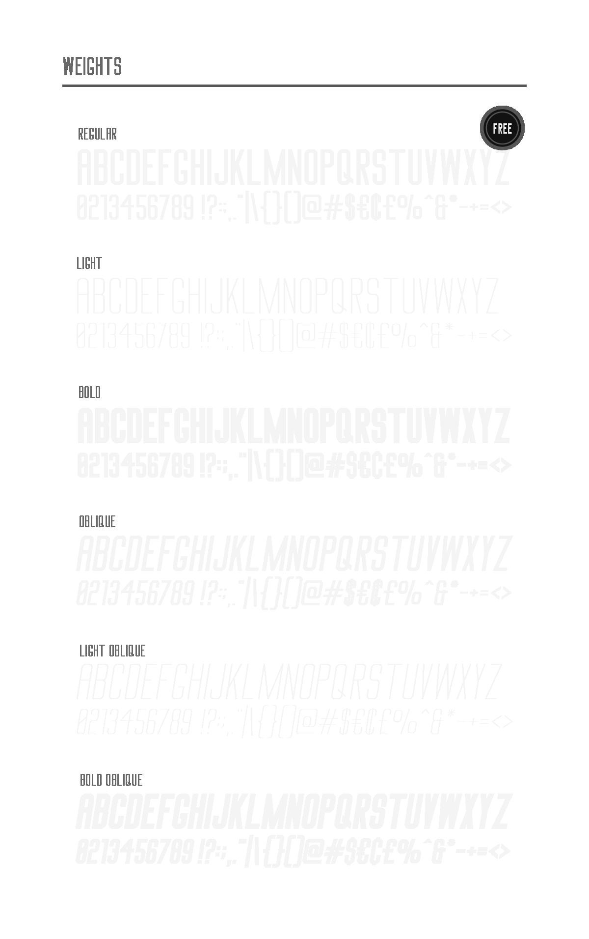Typeface font bold Heavy modern creative design big condensed free
