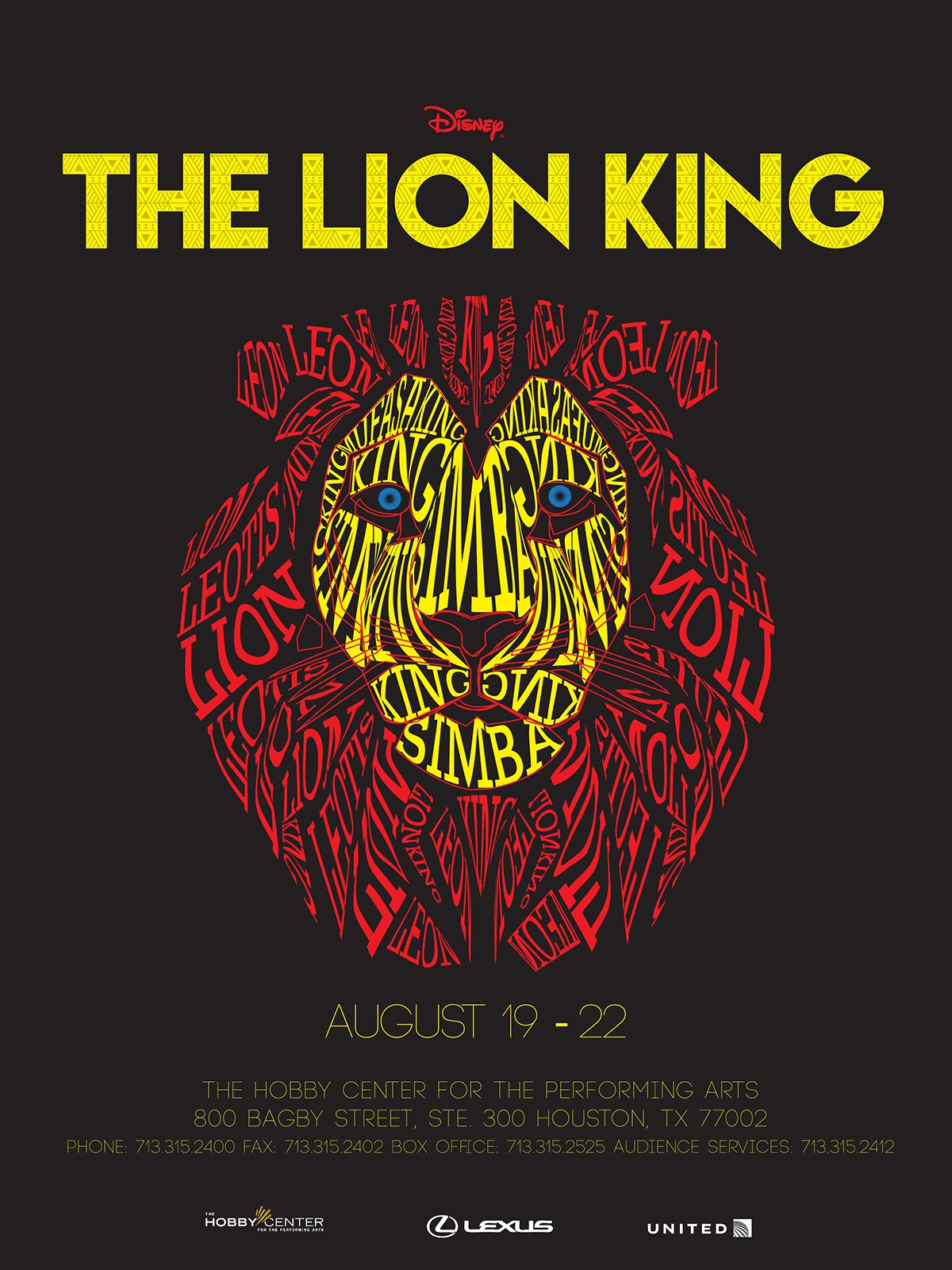 The Lion King Typography Poster On Behance