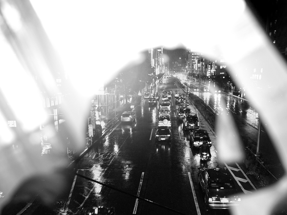 portrait night Urban city Exposure light