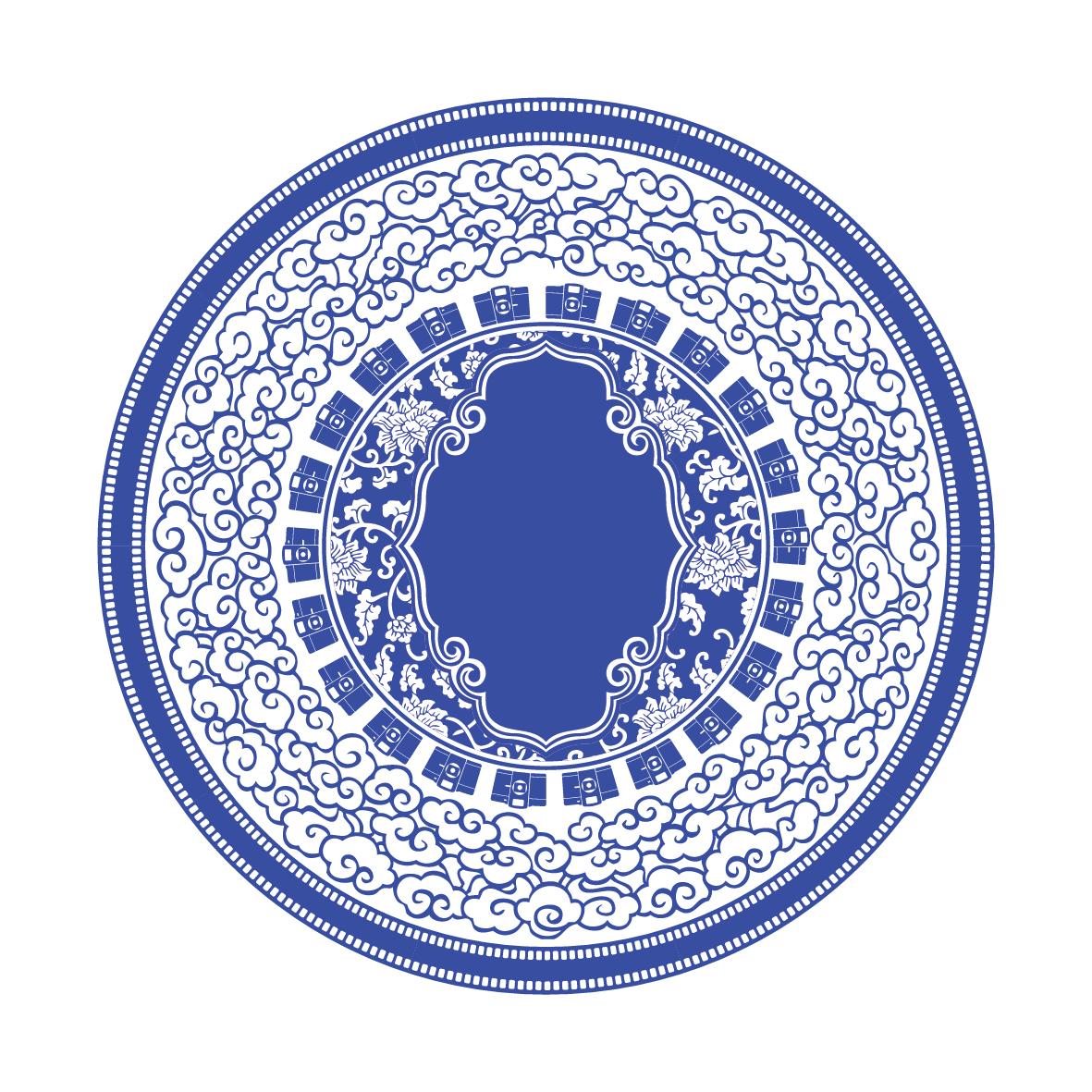 wedding chinese porcelain logo graphic lomo circle