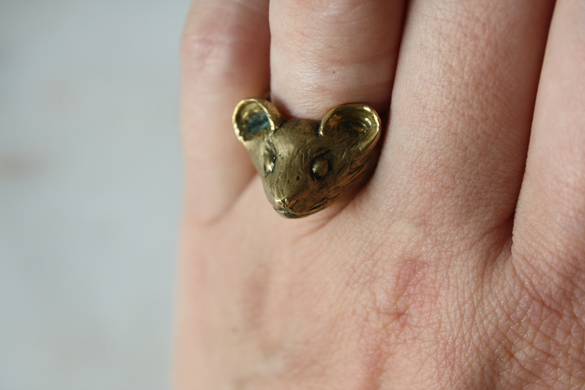 rings jewelry sterling silver stone setting casting lost wax casting wax carving Lion Ring metalwork