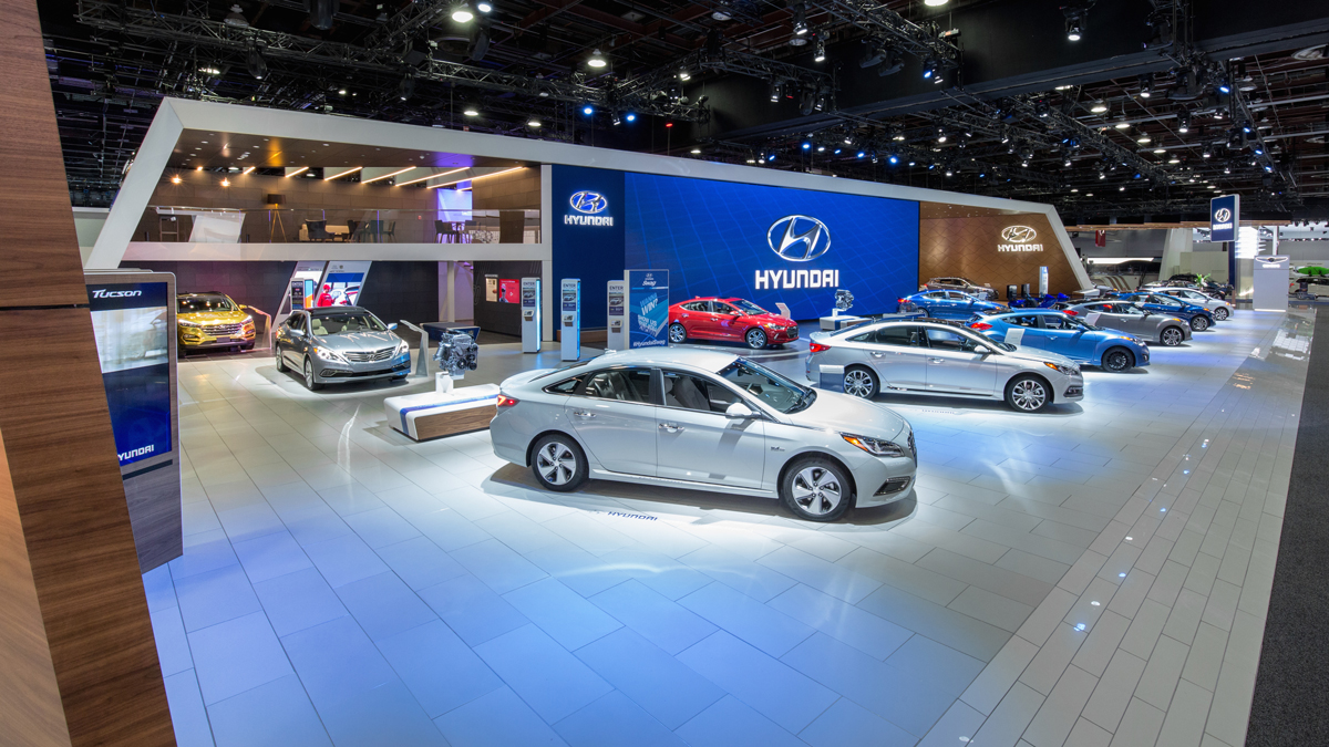 Hyundai At North American International Auto Show On Behance - Hyundai car show