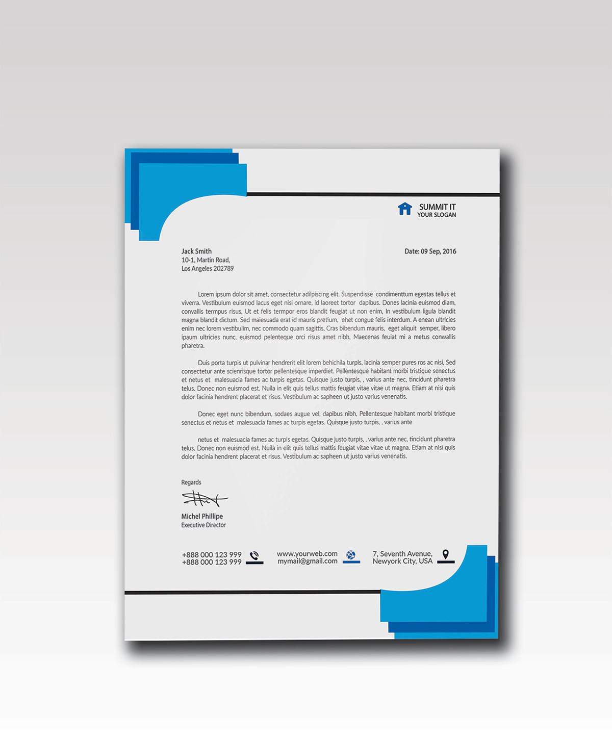 FREE Graphicriver Corporate Letterhead PSD On Behance