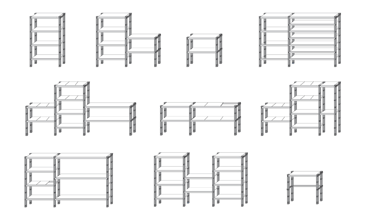 Axiome Shelving System For Form On Behance