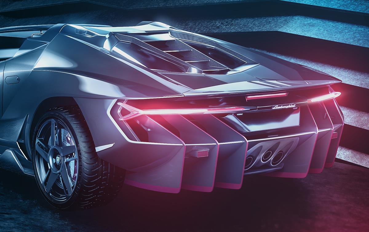Lamborghini Centenario Roadster 2017 Full Cgi On Student Show