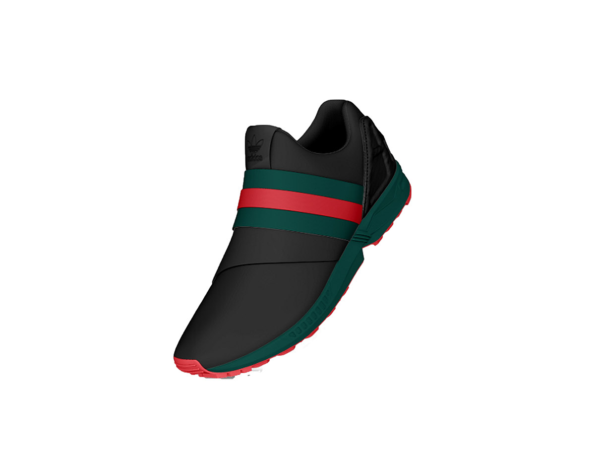 cc8ae1659 Adidas ZX Slide Premium Gucci on Behance