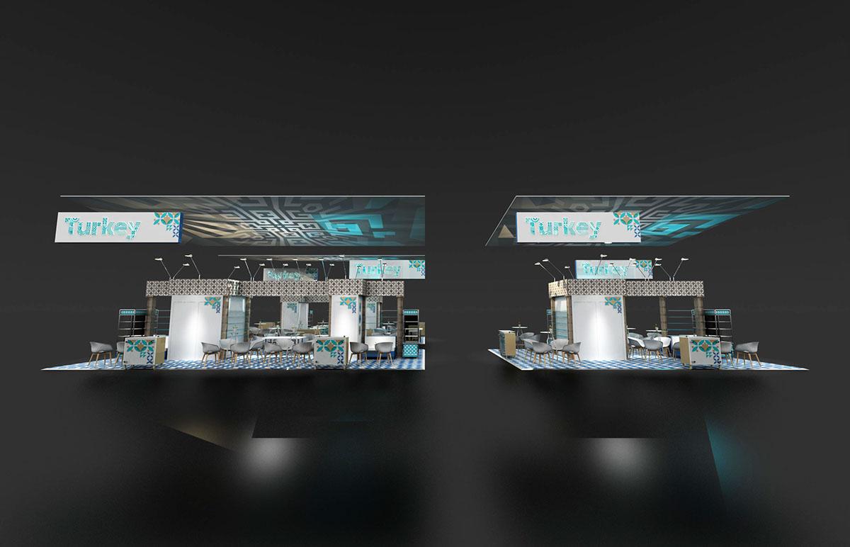 Exhibition Stand Revit : Exhibition stand turkish pavilion on behance