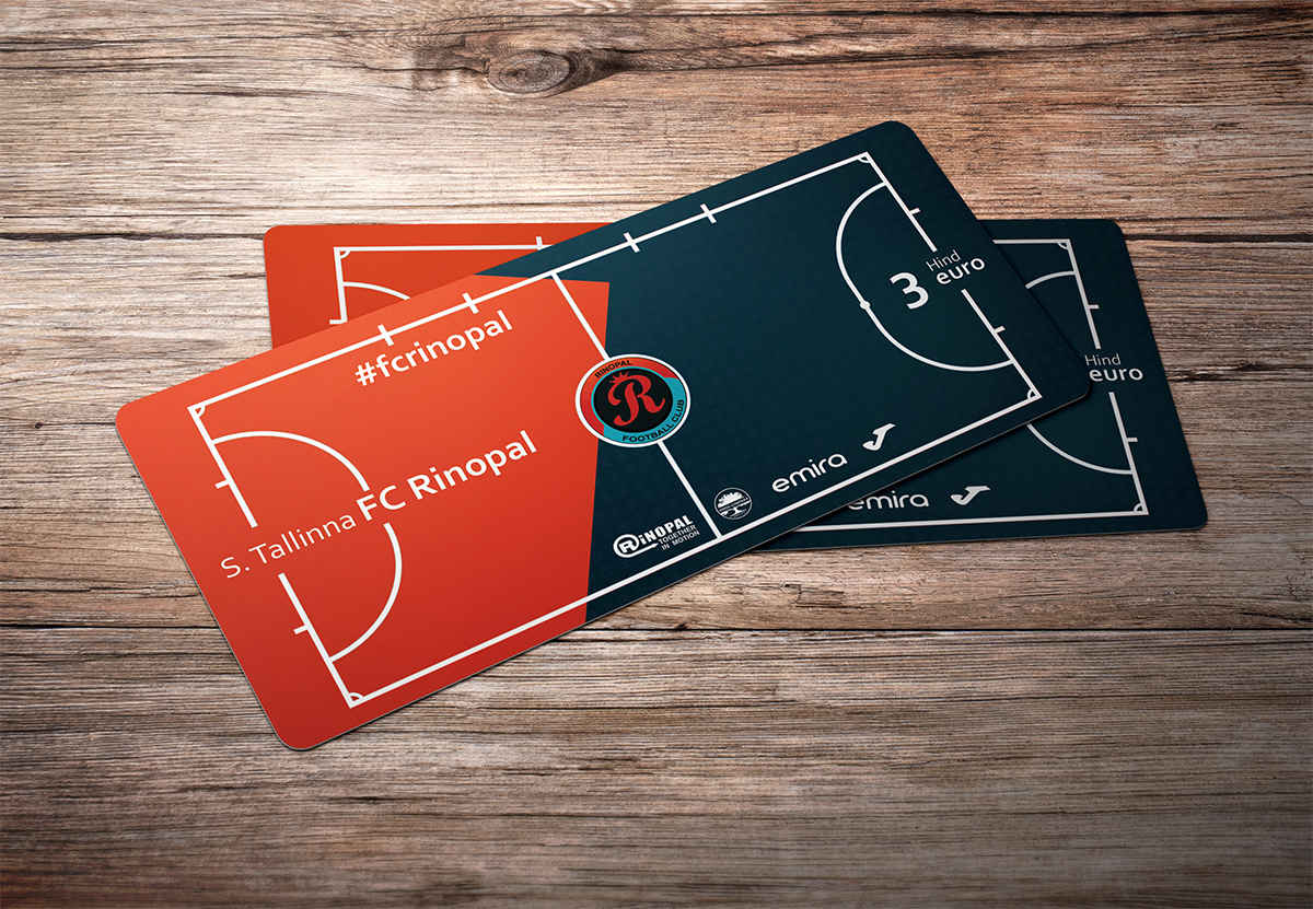 Tickets business cards for football club rinopal on behance tickets business cards for football futsal club rinopal colourmoves