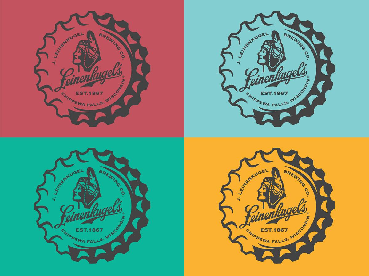 badge beer branding  Leinenkugels logo merchandise Wisconsin