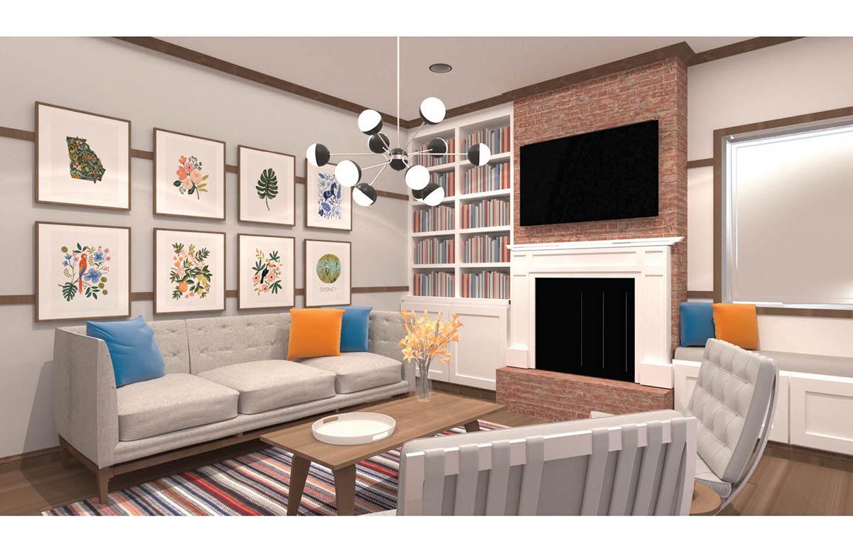 history of interior design shaker style living room on scad portfolios. Black Bedroom Furniture Sets. Home Design Ideas